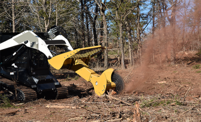 Swing, Rotate, Grind Stumps with Your Skid Steer [VIDEO]