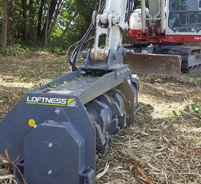 Mulching Attachment Designed for 7- to 15-Ton Excavators