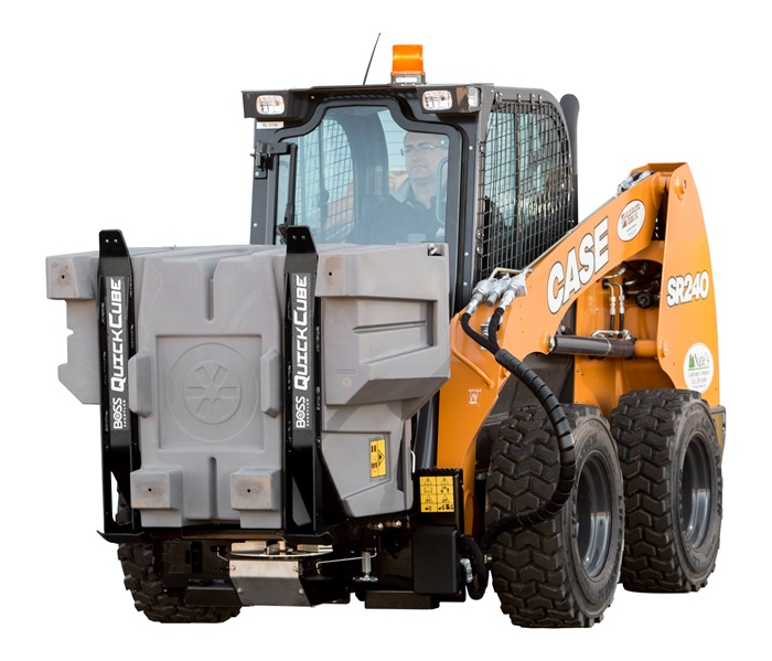 New QuickCube™ drives efficiency by combining on-site salt storage and spreading.